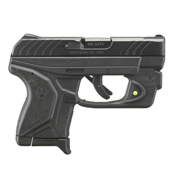 RUGER LCP II 380 ACP 2.75in 6rd Black Oxide Pistol with Viridian Green Laser (13711)