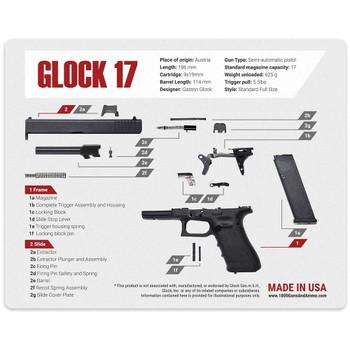 1800GunsAndAmmo Glock Universal Gun Cleaning Mat 16x20 (MAT-GLOCK-17)