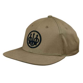 BERETTA Trident Flat Bill Khaki Hat (BC61109144010D)