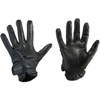 BERETTA Black/Gray Leather Shooting Gloves (GL013L01060903)