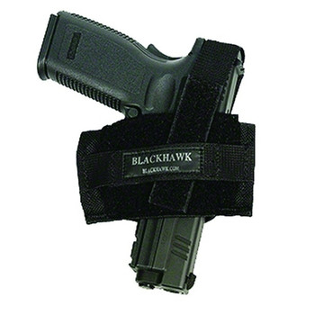 BLACKHAWK Ambidextrous Flat Belt Holster, Black (40FB02BK)