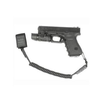 BLACKHAWK Tactical Pistol Coil Lanyard w/ Swivel, Black (90TPL2BK)