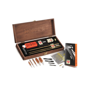 HOPPE'S Deluxe Gun Cleaning Kit with Wood Presentation Box (BUOX)