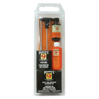 HOPPE'S Universal Shotgun and Rifle Aluminum Rod Cleaning Kit Clamshell Pack (UOB)