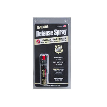 SABRE 3-IN-1 Compact Pepper Spray with Clip (P-22)