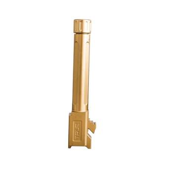 TRUE PRECISION Threaded Gold TiN Barrel for Glock 19 (TP-G19B-XTG)