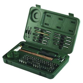 Weaver Deluxe Tool 88-Piece Tool Set, Hard Plastic Case, Steel Punch Kit, Brass/Plastic Hammer Black/Green (849719)