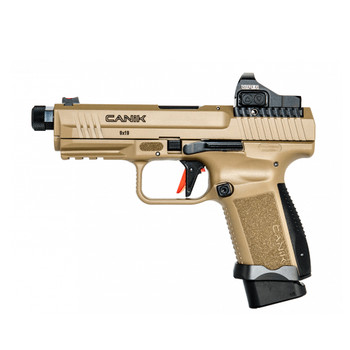 CANIK TP9 Elite Combat 9mm 4.73in 15rd/18rd FDE Semi-Automatic Pistol with Vortex Viper Red Dot (HG6481DV-N)