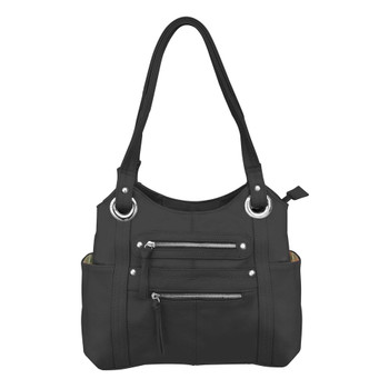 ROMA LEATHERS CCW Concealed Carry Gun Shoulder Black Bag (7008-BLK)