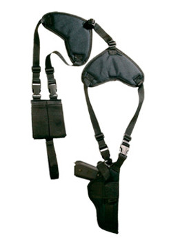BULLDOG CASES Deluxe Shoulder Harness with Holster and Ammo Pouch (WSHD-7)