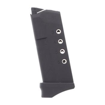 PROMAG Fits Glock 43 9mm 6rd Polymer Black Magazine (GLK-12)