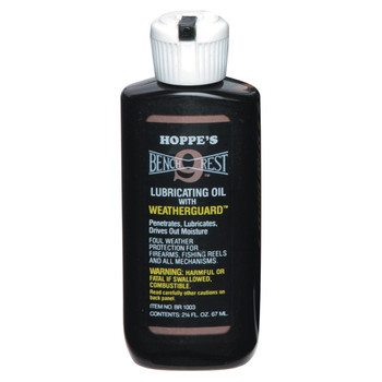 HOPPE'S Bench Rest 9 2.25 oz Squeeze Bottle Lubricating Oil with Weatherguard (BR1003)