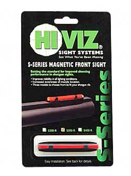 HIVIZ S-Series Front .218in-.328in Red Magnetic Rib Shotgun Sight (S300-R)