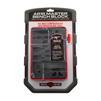 REAL AVID Master For AR Style Rifles Red/Gray Bench Block (AVAR15MBB)