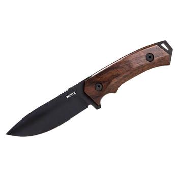 WOOX Rock 62 Walnut Plain Fixed Knife (BU.KNF001.01)