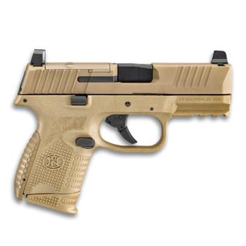 FN 509 Compact MRD 9mm 3.7in 10rd Flat Dark Earth Semi-Automatic Pistol (66-100575)
