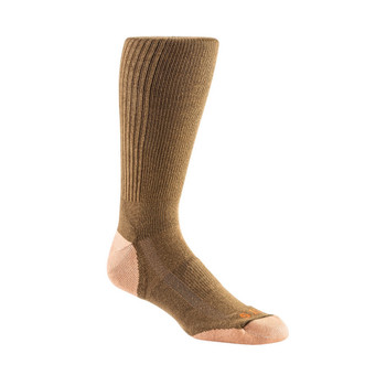 5.11 TACTICAL Cupron Year Round Dark Coyote Crew Sock (10042-106)