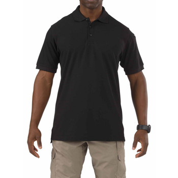 5.11 TACTICAL Utility Short Sleeve Black Polo (41180-019)