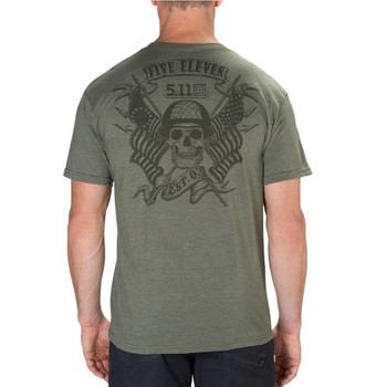 5.11 TACTICAL Banners And Bayonets Military Green Heather Tee (41191RRW-223)
