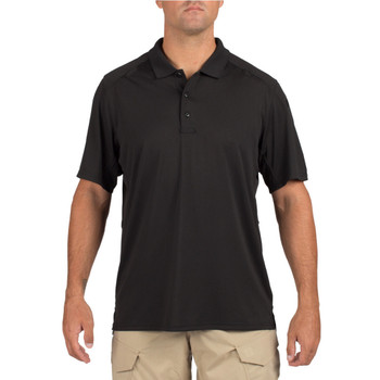 5.11 TACTICAL Helios Black Short Sleeve Polo (41192-019)