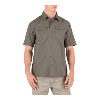 5.11 TACTICAL Freedom Flex Woven Short Sleeve XL Ranger Green Shirt (71340-186-XL)