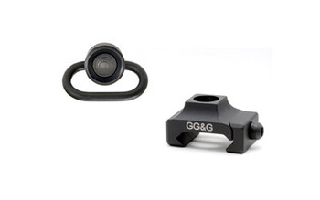 GG&G Heavy Duty Black AR-15 Picatinny Mount for QD Sling Swivel (GGG-1271HD)