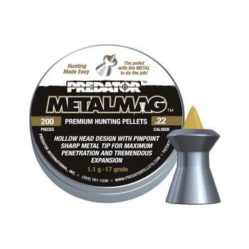 PREDATOR POLYMAG Metalmag .22 Cal. 17 Grain WGT 200pcs Pellet (2002-01-200)