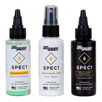 SIG SAUER Lubricant/Bore Solvent/Firearm Degreaser Combo Pack (SPEC1-2OZ-COMBOPACK)