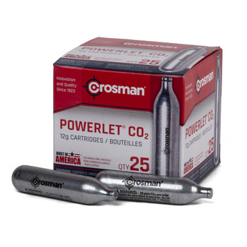 CROSMAN Powerlet 12g CO2 Cartridges 25-Pack (2311)