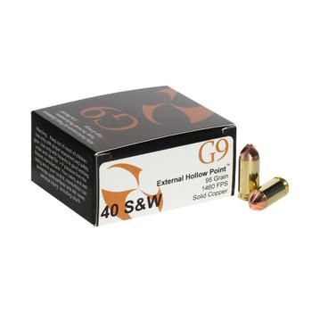 G9 AMMO .40 S&W 95Gr External Hollow Point Ammo (40SW-95)