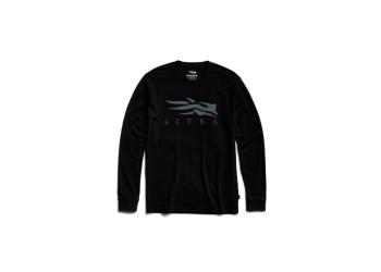 SITKA Icon Long Sleeve Tee Sitka Black Shirt (20224-BK)