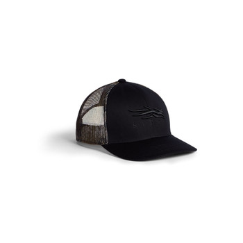 SITKA Icon Timber Mid Pro Trucker One Size Fits All Sitka Black Cap (20243-BK-OSFA)