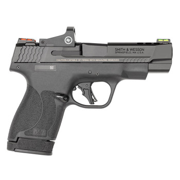 SMITH & WESSON Performance Center M&P9 Shield Plus 9mm Luger 4in 10/13rd Black Pistol with Crimson Trace Red Dot Optic (13253)
