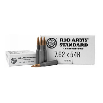 RED ARMY Standard 7.62x54R 148Gr 20rd Box Rifle Ammo (RASAM3093)