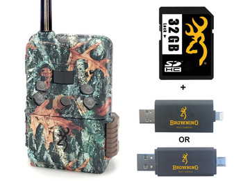BROWNING TRAIL CAMERAS Defender Wireless Pro Scout Verizon LTE Trail Camera With 32 GB SD Card And SD Card Reader For iOS (BTC-DWPS-VZW+32GSB+CR-UNI)
