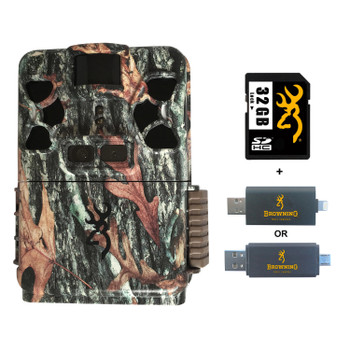BROWNING TRAIL CAMERAS Recon Force Patriot FHD Trail Camera with 32 GB SD card and SD Card Reader For iOS (BTC-PATRIOT-FHD+32GSB+CR-UNI)