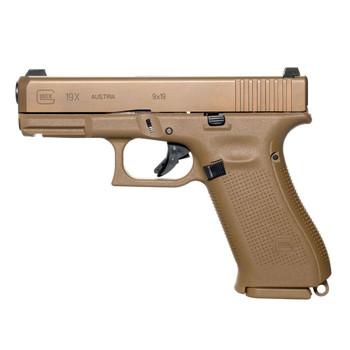 GLOCK G19X 9mm 4.02in 17rd Flat Dark Earth Semi-Automatic Pistol (UX1950703)