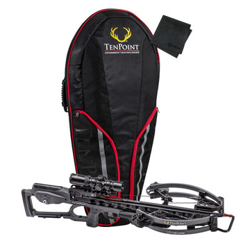 TENPOINT Viper S400 Graphite Hunting Crossbow Package (VIPS400GR+BLAZSCASE+GRITMF)