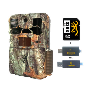 BROWNING TRAIL CAMERAS Spec Ops Edge Trail Camera With 32 GB SD Card And SD Card Reader For iOS (BTC-8E+32GSB+CR-UNI)