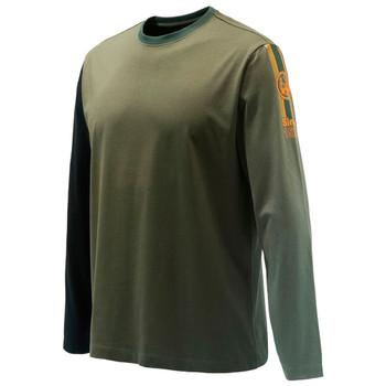BERETTA Men's Victory Corporate Green LS T-Shirt (TS352T15570715)