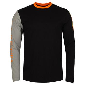 BERETTA Men's Victory Corporate Black/Orange LS T-Shirt (TS352T15570945)