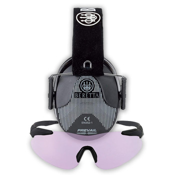 BERETTA Performance Plastic Frame Shooting Glasses with Hearing Protection Standard Earmuffs