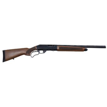 "Landor Arms TX 801 Lever 12 Gauge 21.5"" 4+1 Blued Wood Checkered RH Shotgun (LDTX8011221)"