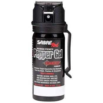 SABRE Crossfire 1.8 Oz Pepper Gel with Belt Clip (MK3-CFTG-BC)
