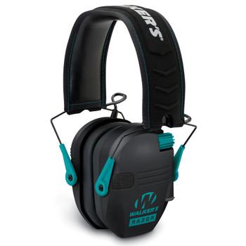 RAZOR Slim Low Profile Teal Electronic Earmuffs (GWP-RSEM-TL)