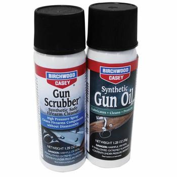 BIRCHWOOD CASEY Gun Scrubber/Synthetic Aerosol Oil Combo Pack (33329)