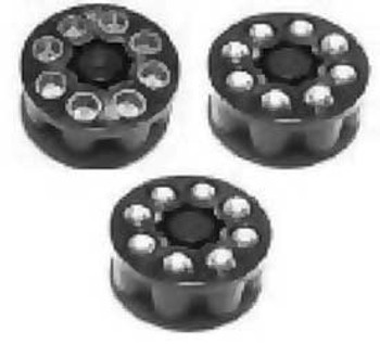 CROSMAN Spare Clips For 1088/1008/T4 Pistols, 3-Pack (488)
