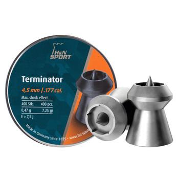 HAENDLER & NATERMANN Terminator 177 Cal 7.25gr HP 400ct Pellets (HN-92214500003B)