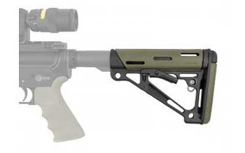 HOGUE AR-15 OD Green OverMolded Collapsible Buttstock (15240)