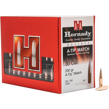 HORNADY 30 Cal .308 250 Gr A-Tip Match Bullets (3092)
